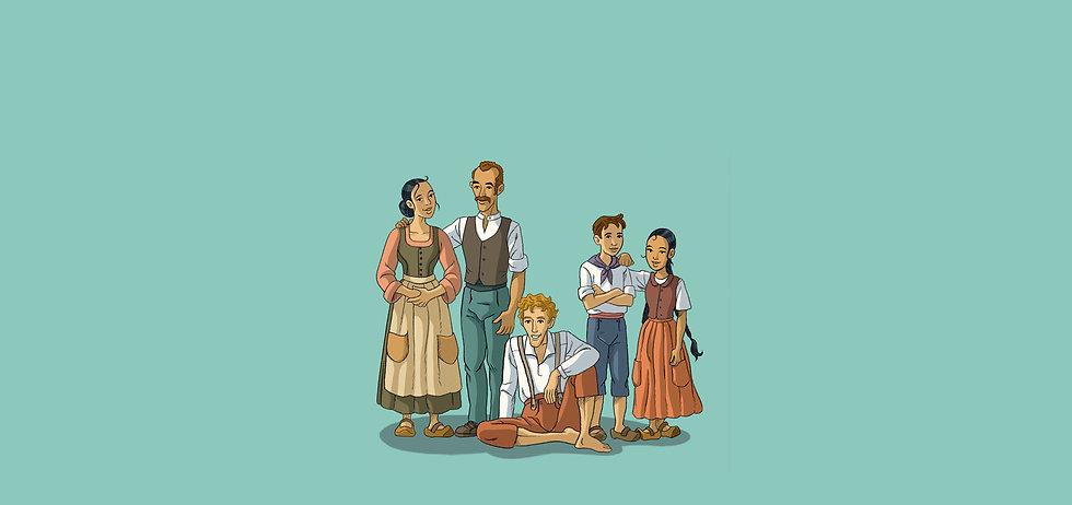 Jean du Rhône et sa famille