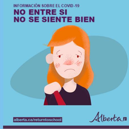 INFORMACIÓN SOBRE EL COVID-19 NO ENTRE SI NO SE SIENTE BIEN.