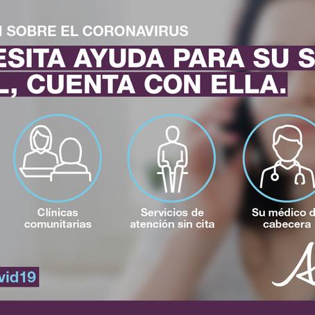Aviso de servicio público sobre el coronavirus, 21 de marzo.