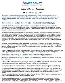 EPMC HIPAA Privacy Notice