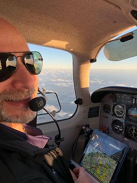 Dr Yucht in cockpit