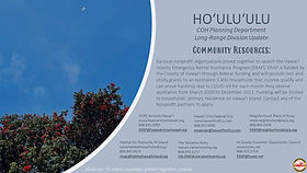 County of Hawaiʻi Long Range Division Update