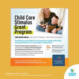 Child Care Stimulus Grant Program