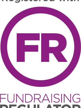 We're registered with The Fundraising Regulator