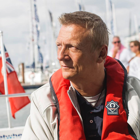 Inspirational Sailor, Geoff Holt MBE DL, joins Row Britannia