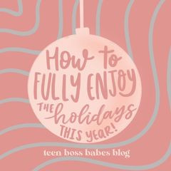 How to fully enjoy the holidays this year!
