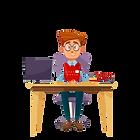 gestionnaire-dessin-anime-vecteur-dans-b