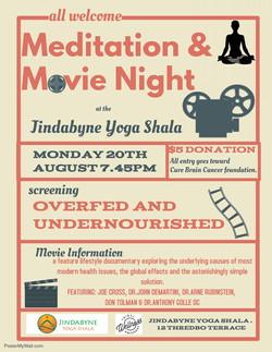 Meditation & Movie Night August 2018