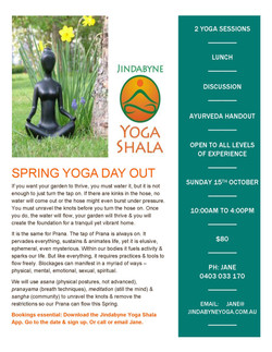Spring Yoga Day Out Oct 2017