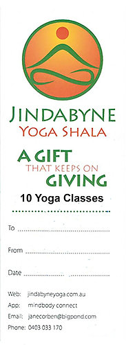 GIFT VOUCHER 10 Classes