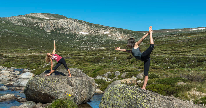 Sheridan Gill and Jane Corben in Kosciuszko National Park - Captured by Mike Edmondson