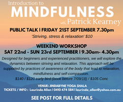 Mindfulness Workshop Sept 2018