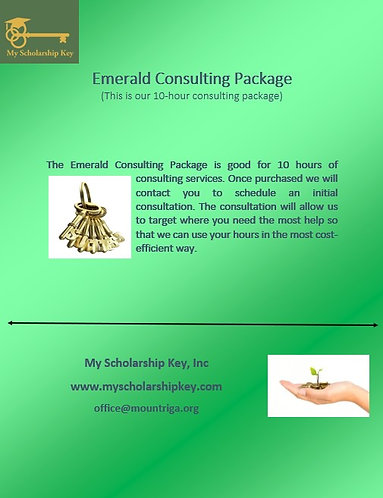 Emerald Key 10 Hour Consulting Package