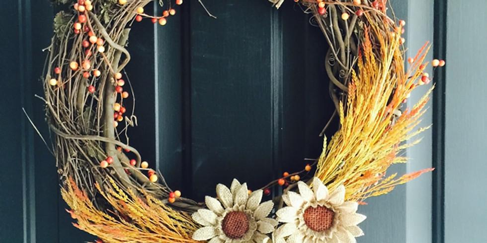 Ladies First Night--DIY Fall Wreath