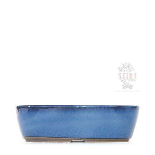 Oval Lacivert Bonsai Saksısı No.4 - 17 cm (Japon)