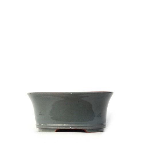 Sırlı Yuvarlak Bonsai Saksısı No.TP3-2-Yeşil (20 cm)