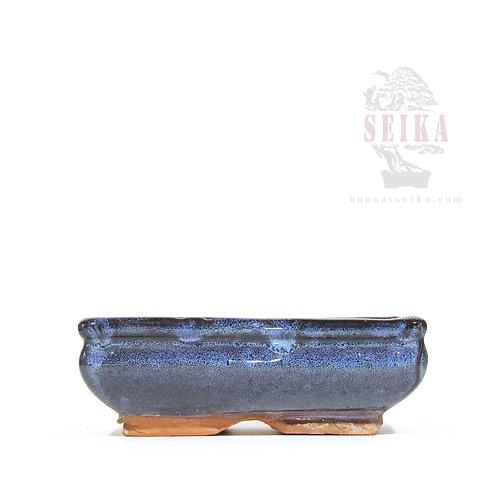 Köşeli Çıkma Sırlı Saksı No.1 - Orta (15 cm)