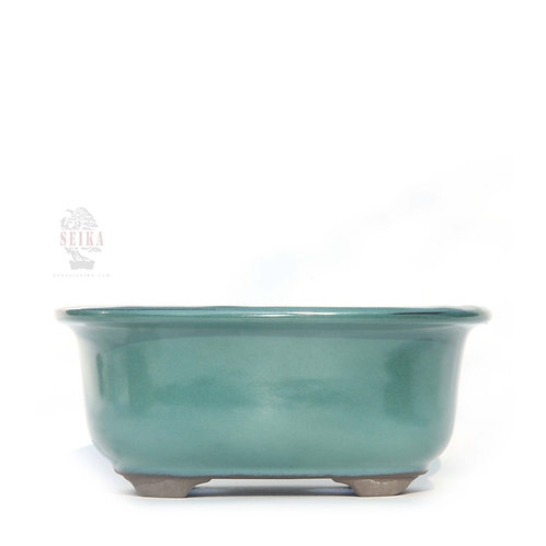Oval Yeşil Bonsai Saksısı No.3 - 15 cm (Japon)