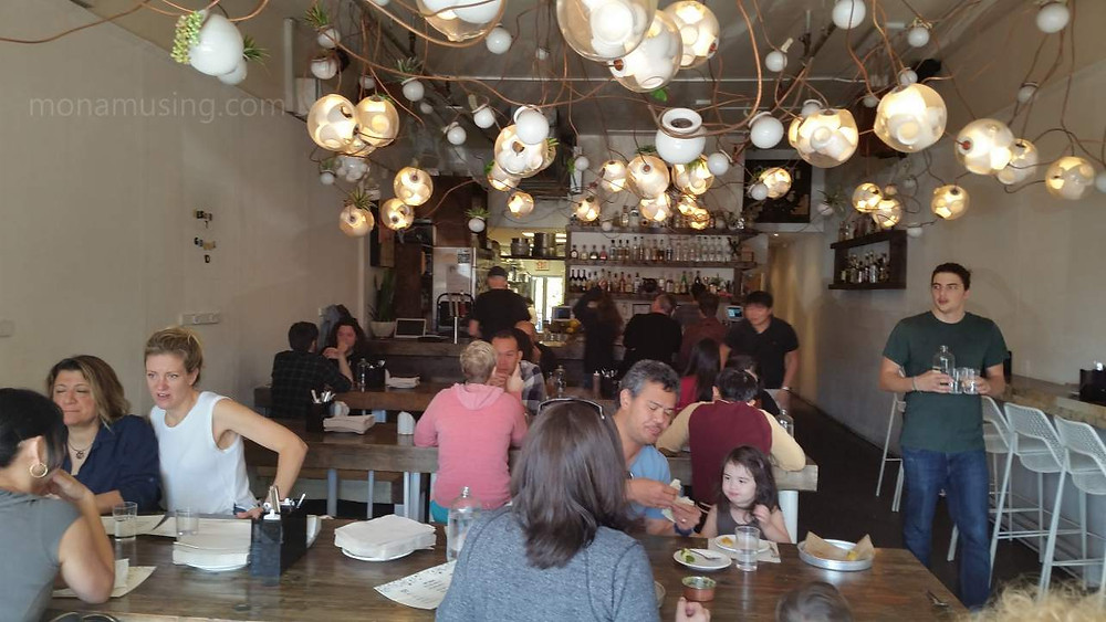 diners eating at Tacofino's East Side Commissary in Vancouver