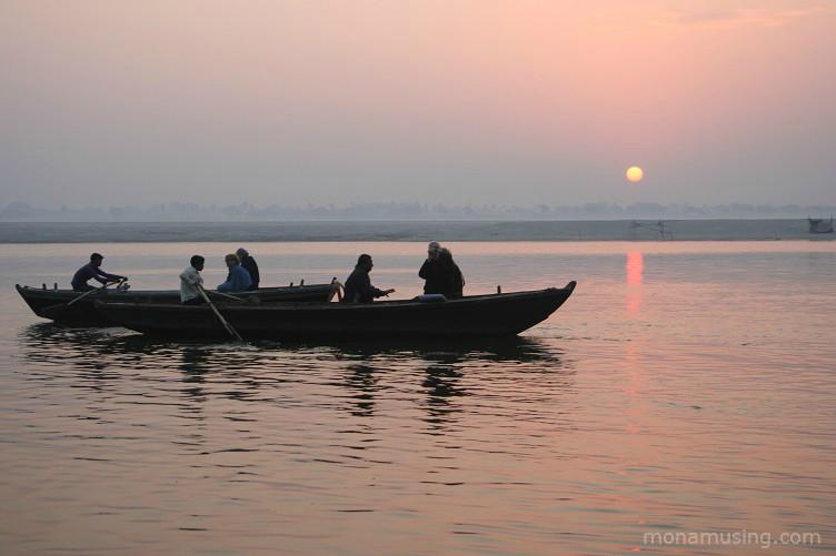 Sunrise on the Ganges River near Varanasi, India