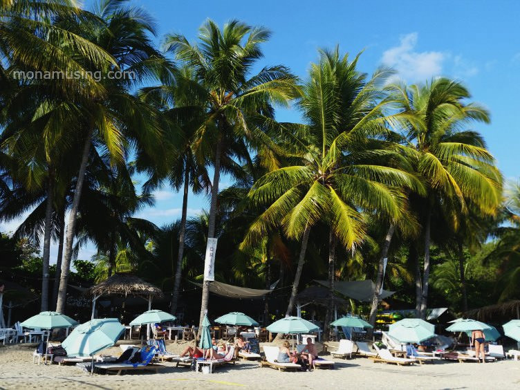 gusto beach club in playa samara costa rica