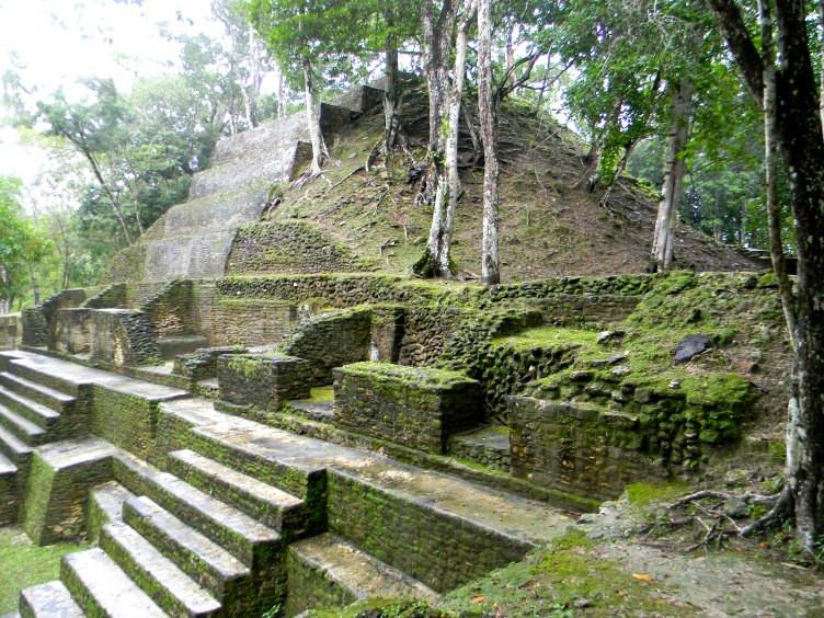 Mayan ruins of Cahal Pech near San Ignacio in Belize
