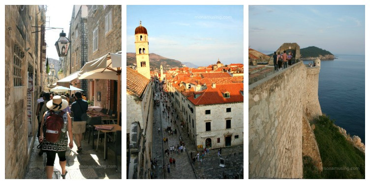 cobblestone streets., terracotta roofs and the harbour of Dubrovnik's old city