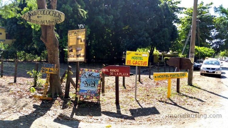 hand painted signs in Samara Costa Rica