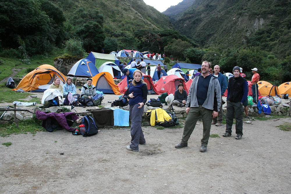 campsite along the Inca Trail in Peru