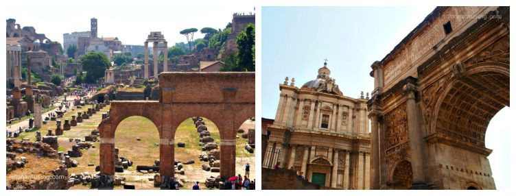 The Roman Forum and Arch of Titus
