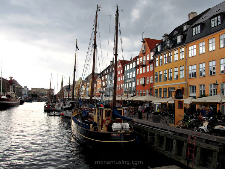 boats and colorful buildings along Nyhavn Canal in Copenhagen