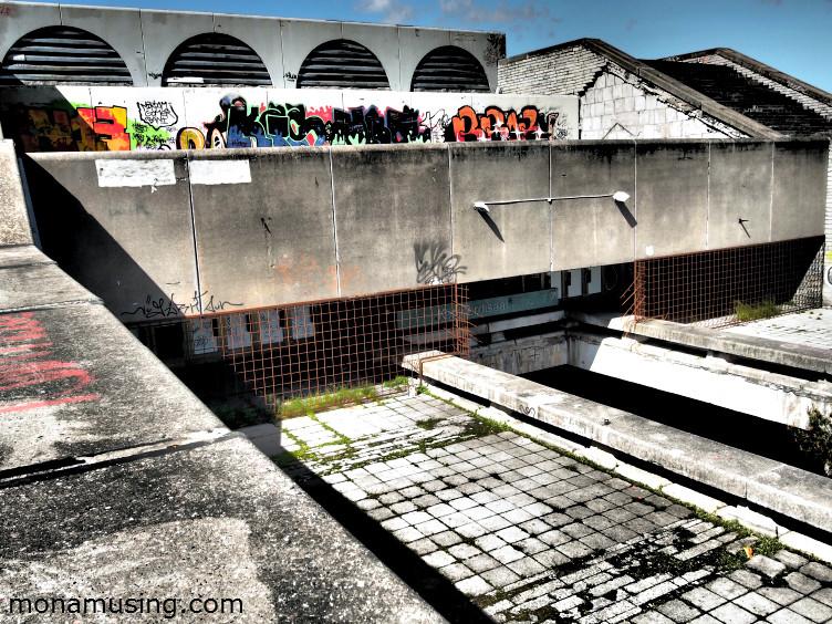 abandoned sports complex in Tallin, Estonia