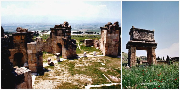 Martyrium of St. Peter the Apostle and a tomb in the necropolis at Hierapolis, Turkey