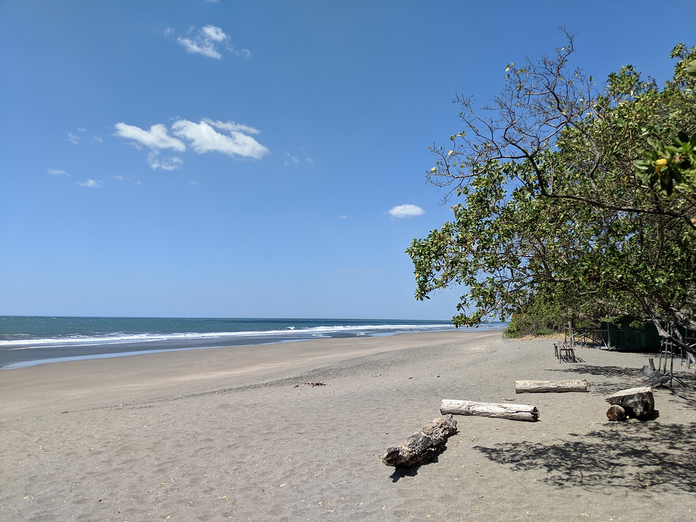 beach and the Pacific Ocean at San Juan Venado in Nicragua