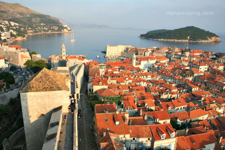 """Dubronvik and its harbour bathed in golden light, the first stop on our travels up the coast of Croatia"""""""