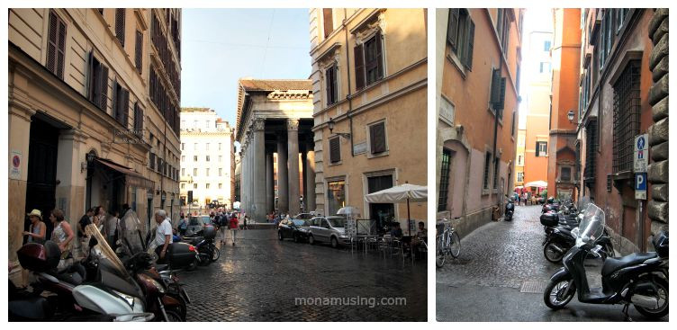 early evening street scenes in Rome