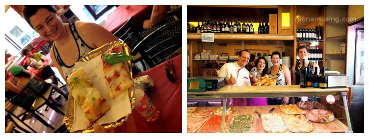 pizza tasting in Rome's Testaccio neighbourhood