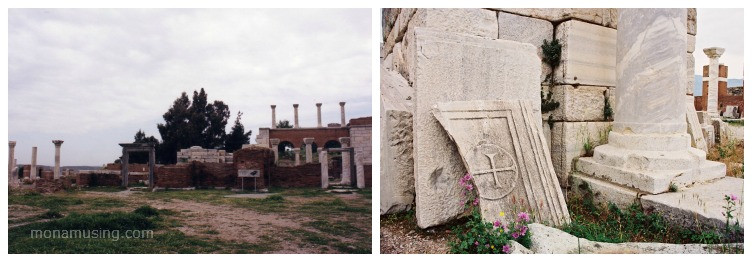 ruins of the Church of St John in Selcuk, Turkey