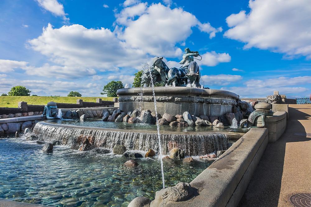 Gefion Fountain, the largest in Copenhagen