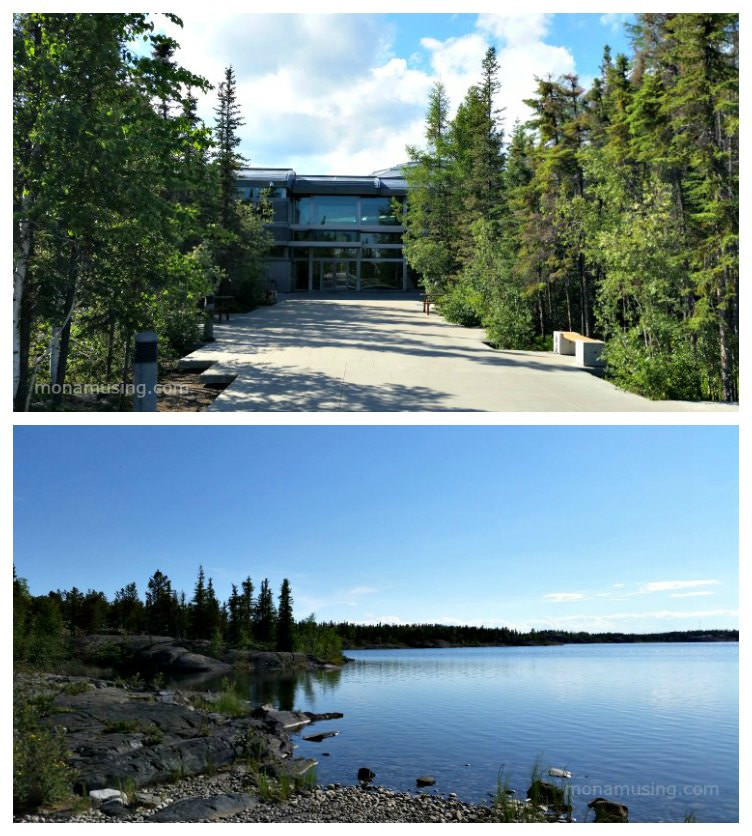 Northwest Territories Legistlative Assembly building and grounds on Frame Lake in Yellowknife