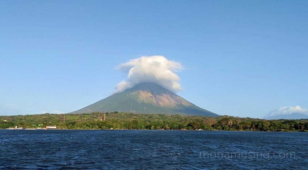 view of Mombacho Volcano near Granada, Nicaragua