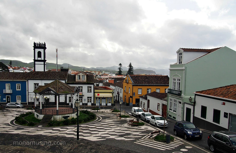 Cloudy day in Ribeira Grande on Sao Miguel Island
