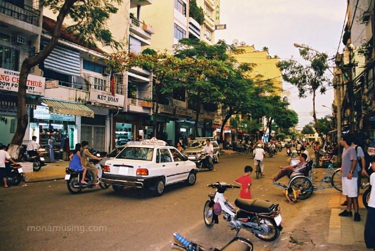 street scene in Saigon, Vietnam