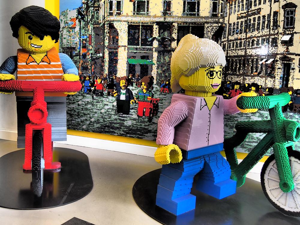 window display at the Lego store in Copenhagen
