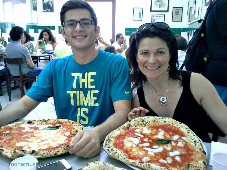 authentic pizza napoletana at L'Antica Pizzeria da Michele in Naples
