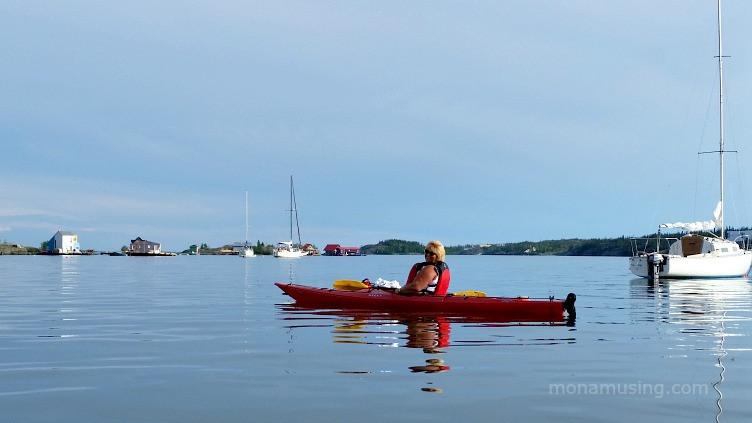 Kayaking in Back Bay, Yellowknife