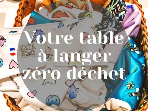 Organisation table à langer et bébé zéro déchet