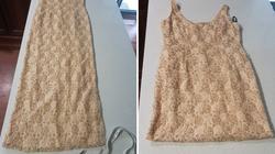 Shorten this dress into a skirt