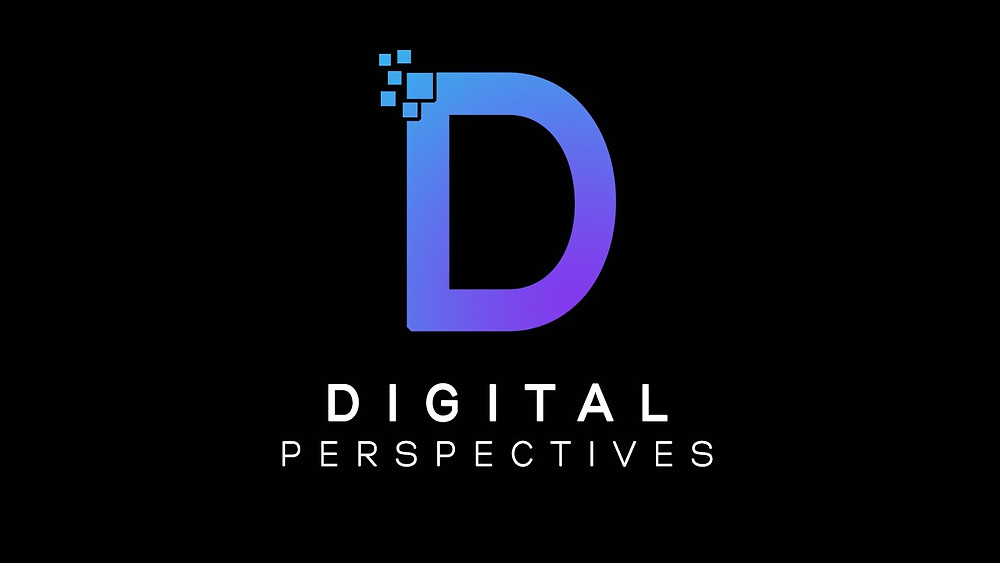 Purple Letter D above the words Digital Perspectives
