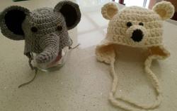 Baby Beanie Elephant and Bear